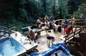 Scenic hot springs