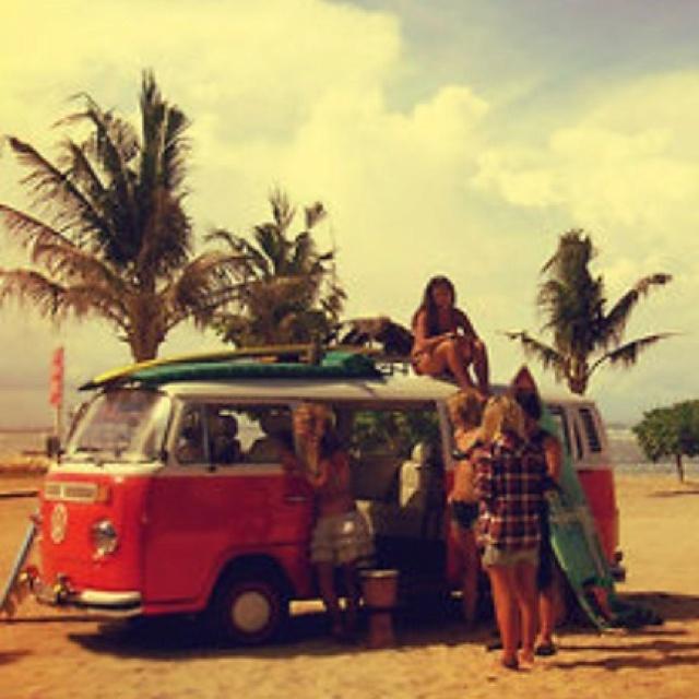 Maui hippie surfers