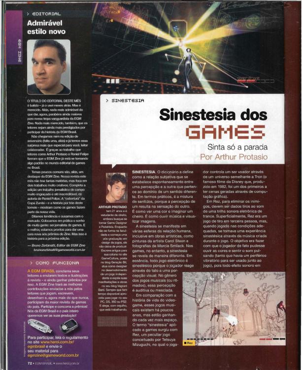 Sinestesia dos Games - página 1