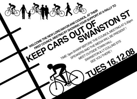 Keep cars out of swanston street