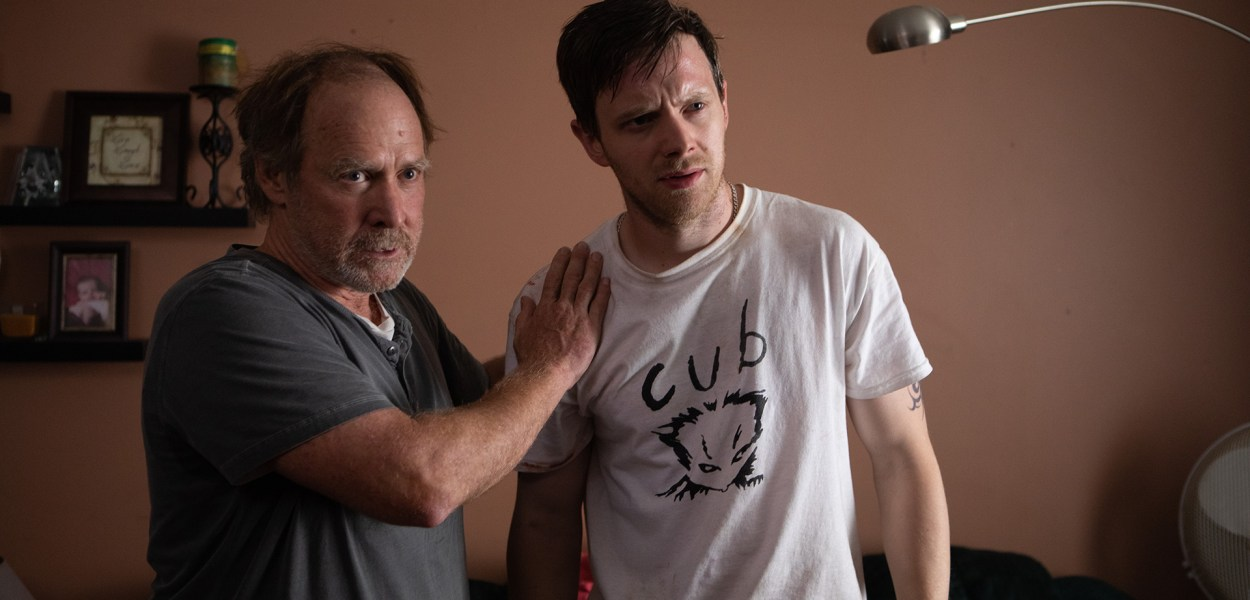 Will Patton and Mark O'Brien in Hammer