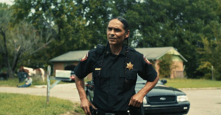 Reservation Dogs Cast - Zahn McClarnon as Officer Big