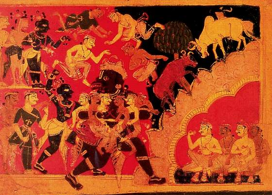 krishna and demons
