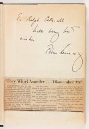 Inscription to Ralph Catterall from Senator John F. Kennedy