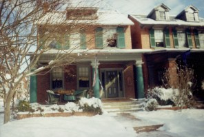 Bed and breakfast on Kensington Ave, across the street from the VHS, January 2003