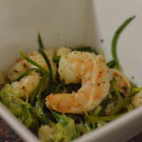 Shrimp and Scallops in Garlic-Herb Ghee Sauce over Zoodles
