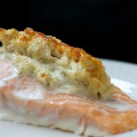 Crab-Stuffed Salmon