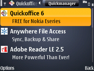 Free QuickOffice 6 Upgrade (Office 2007 Compatibility) For Eseries