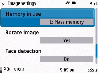 Nokia N86 Face Detection