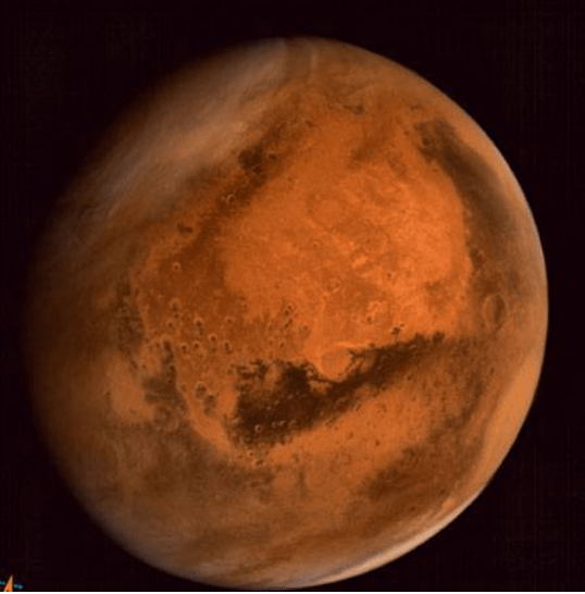 Regional dust storm activities over Northern Hemisphere of Mars - captured by MCC ​(courtesy Isro)