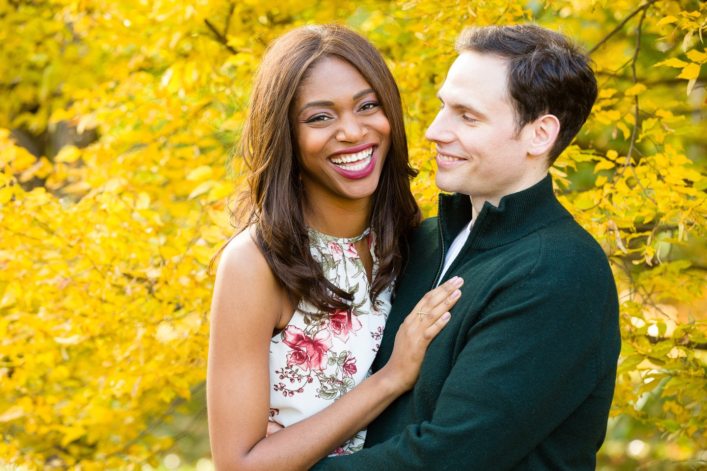 Bree and Nick's Fall Foliage Inspired Engagement Shoot at the Arnold Arboretum