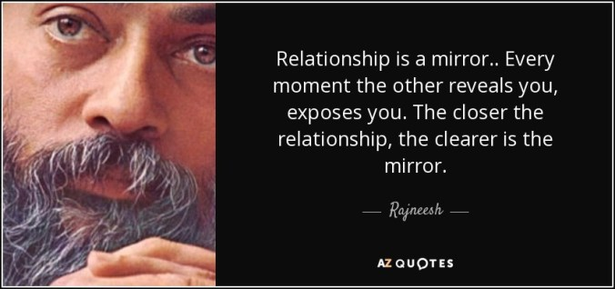 Osho's quote about relationship mirrors