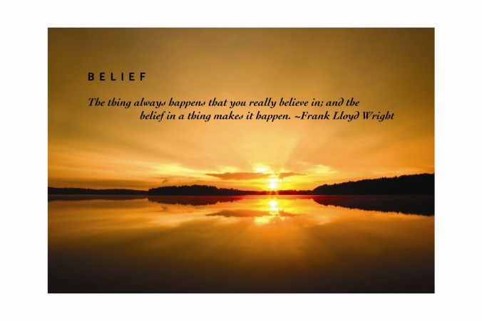 The power of belief. Faith