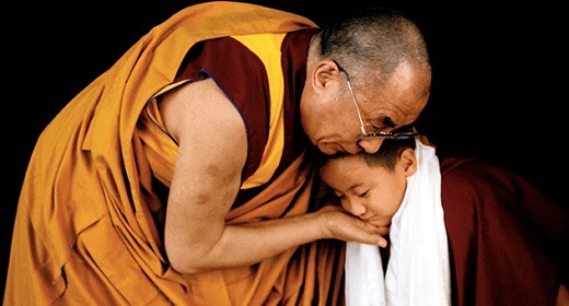 Dalai Lama compassion for a child