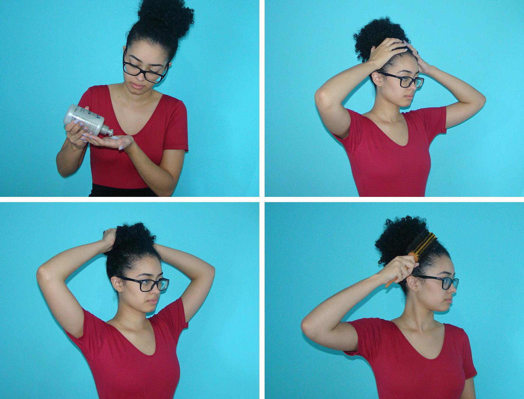 Como fazer coque em cabelo cacheado