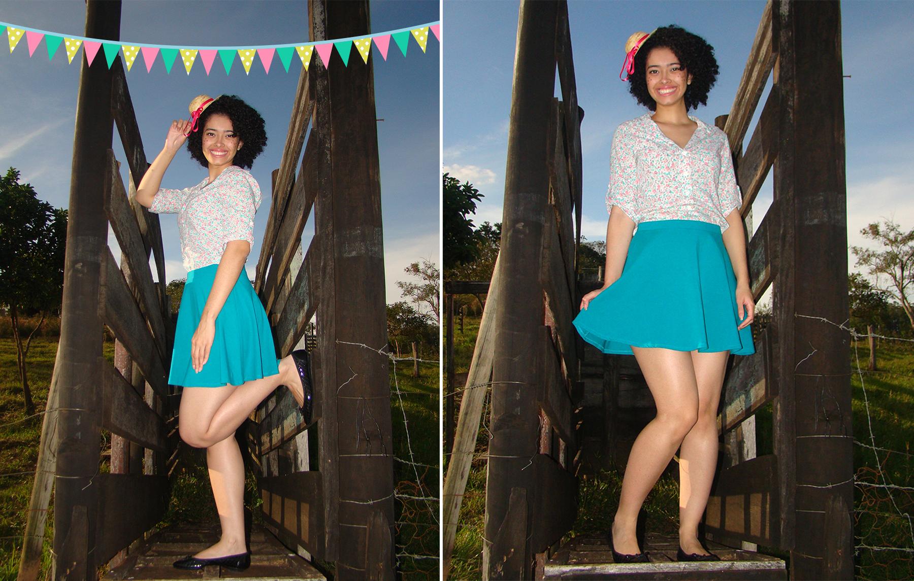 look-caipira-camisa+saia