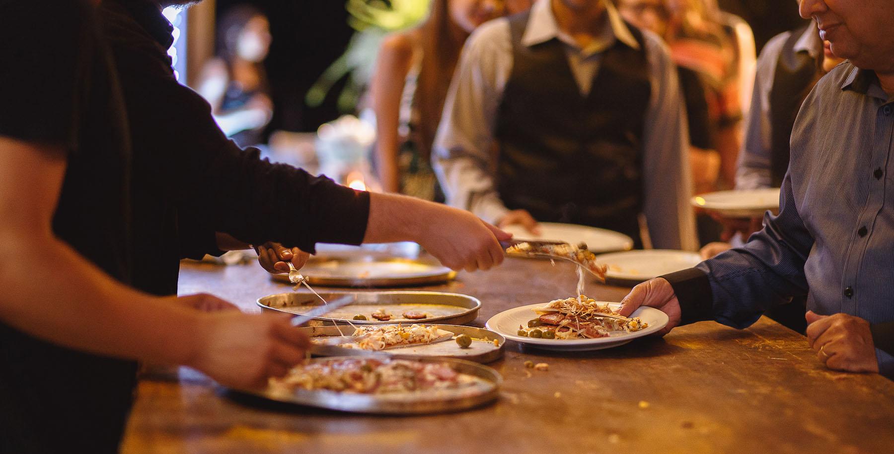 Como Servir Pizza no Casamento