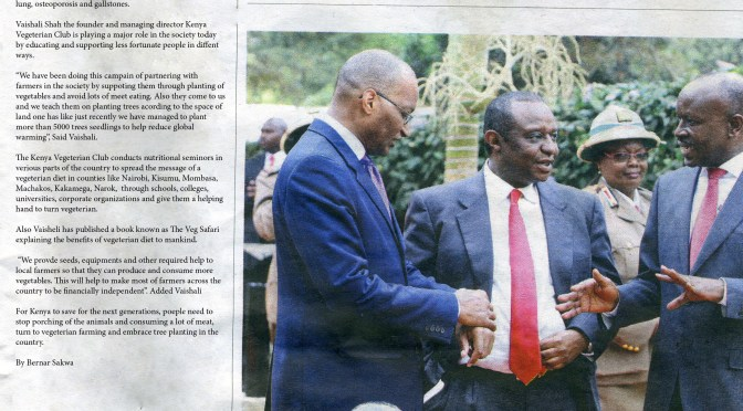 Coverage in The Star – newspaper in Kenya