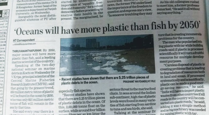Oceans filled with plastics