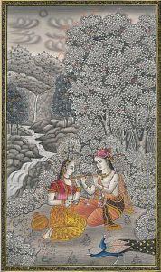 Radha and Krishna hand-drawing (Photo credit: Wikipedia)