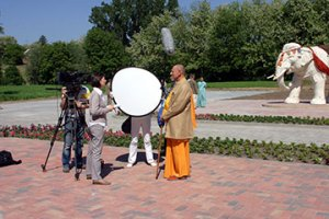 The Hungarian National Television interviews Sivarama Swami