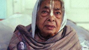 Saci Mata Dasi often helped Pishi Ma, Srila Prabhupada's sister (pictured) cook for Prabhupada