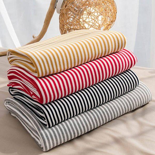 Vải thun sọc cotton 100%