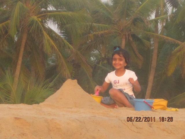 making sand house