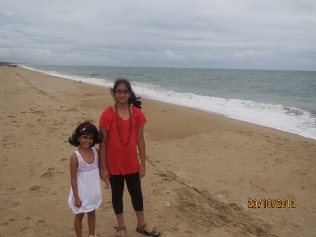 morning walk in beach