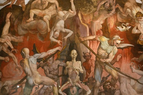 Detail of Hell from  Fresco Cycle by Frederico Zuccaro and Giorgio Vasari