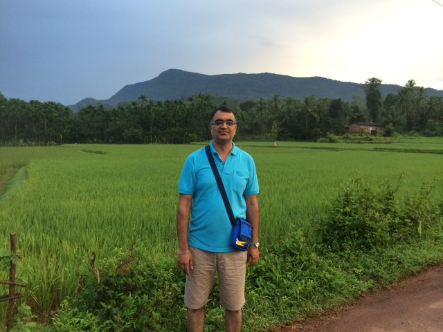 morning walks lush green paddy fields every day