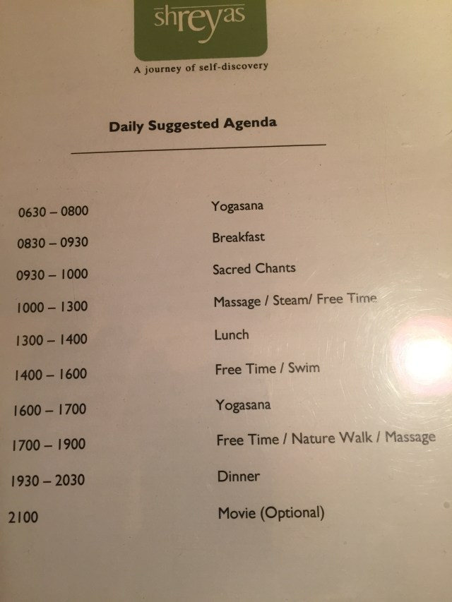 daily suggested agenda