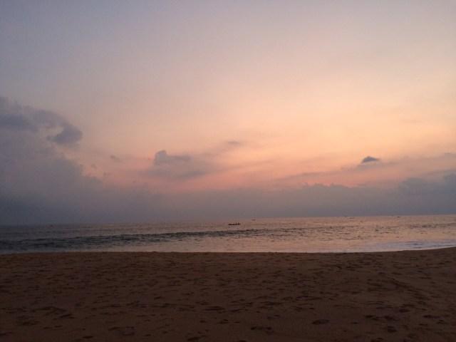 Sunset view from Niraamaya Resort