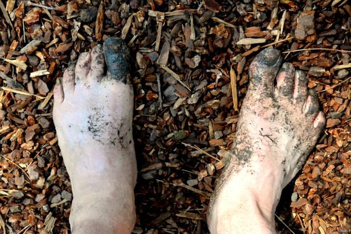 blote voetenpad, vakantaseren