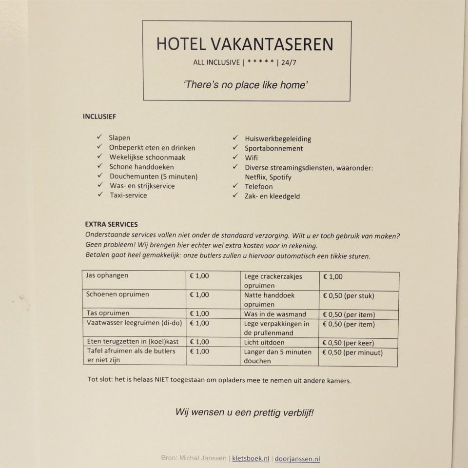 hotel vakantaseren, tieners, pubers, omdenken