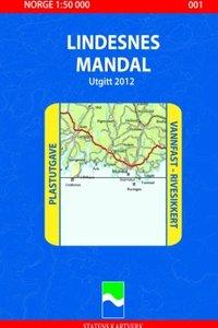 Wandelkaart - Topografische kaart 001 Lindesnes - Mandal, Noorwegen | Nordeca