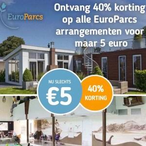 Voucher voor EuroParcs | 40% korting op verblijf in vakantieparken voor slechts 5 euro - Koopjedeal - De beste Deals & Dagaanbiedingen