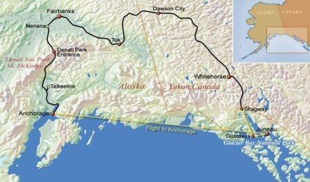 De parels van Alaska, Yukon & Glacier Bay (16 dagen)