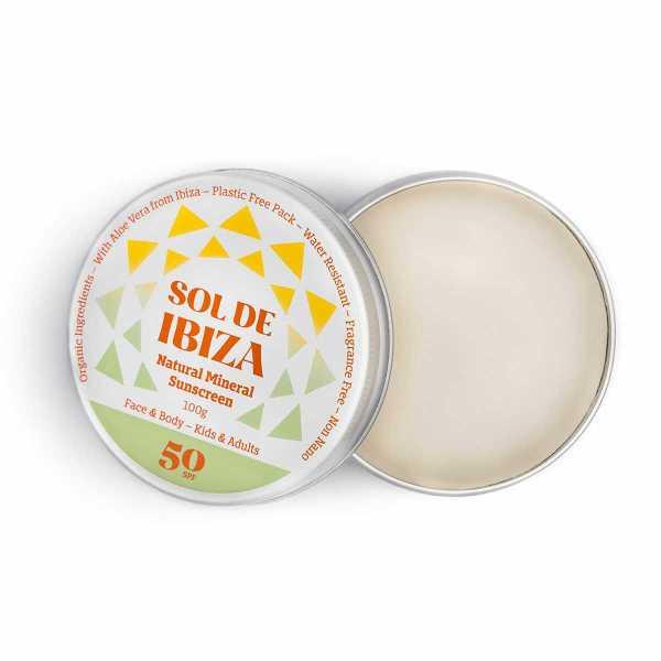 Sol de Ibiza Minerale zonnebrand crème SPF 50 100ml, bio