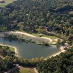 Luchtfoto van DroomPark de Zandig