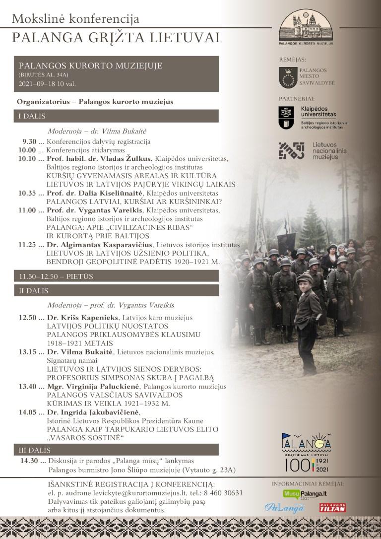 """Istorinė konferencija """"Palanga grįžta Lietuvai"""" 09/ 18"""