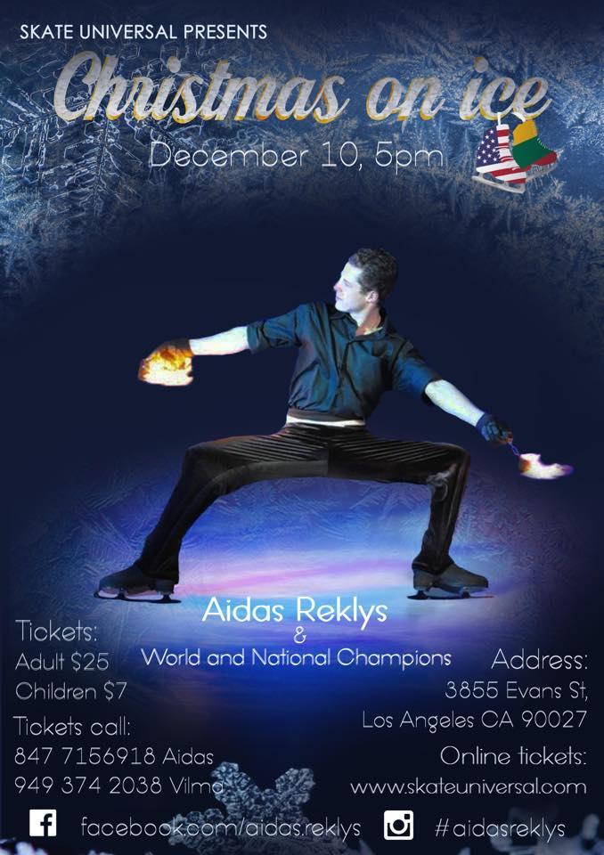 Christmas On Ice.Aidas Reklys Spektaklyje Christmas On Ice Los Angeles