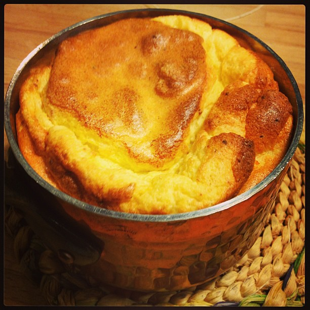 Nothing like a smoked salmon soufflé for a Sunday night