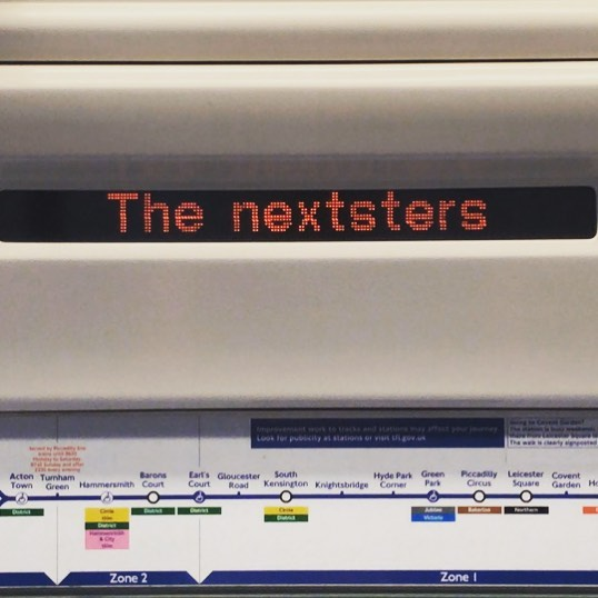 "Today only, exclusively on the Piccadilly Line: ""The Nexters"" 🤔"