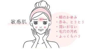 敏感肌の悩み