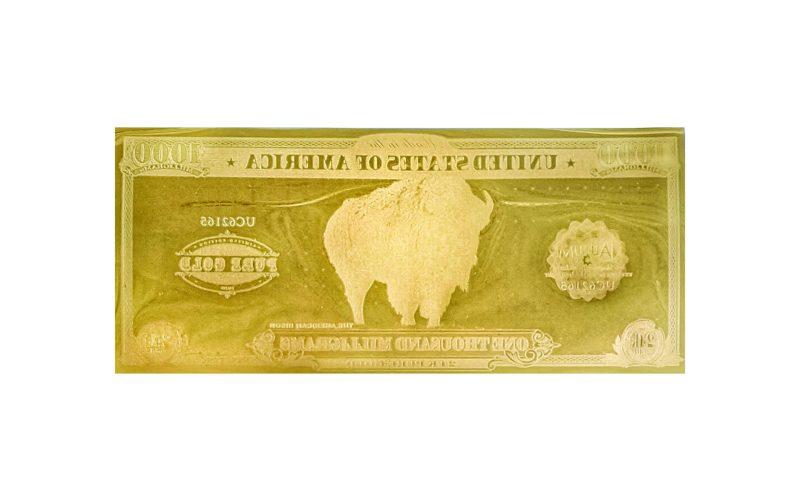 Reverse of the Bison One Gram Aurum - Valaurum, Inc.