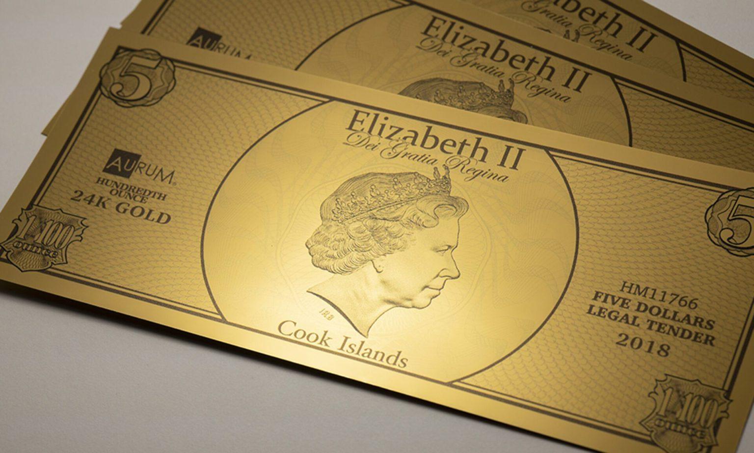 Queen Elizabeth in profile for Cook Islands