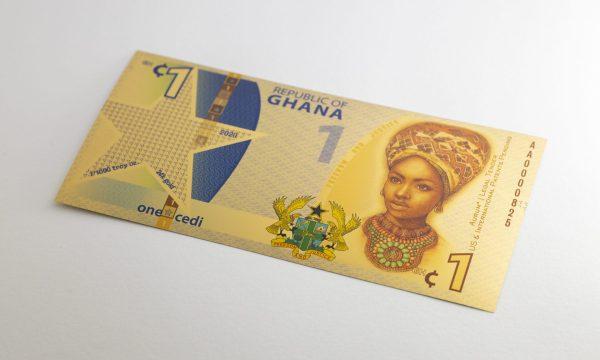 Republic of Ghana 1 Cedi Gold Note Aurum®