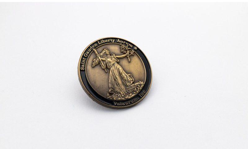 St. Gauden's Liberty Enamel Pin - Valaurum, Inc.