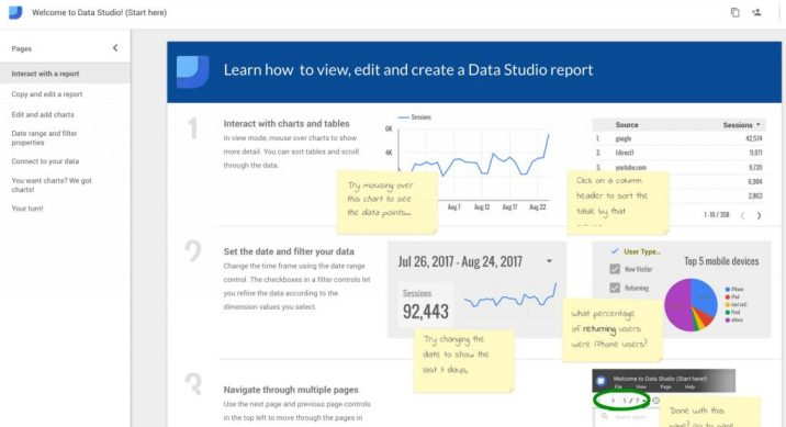 data studio sample report